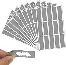 LYTIVAGEN 150 Pcs DIY Carte à Gratter, Autocollant à Gratter Argent, Étiquette de Scratch Rectangle pour DIY