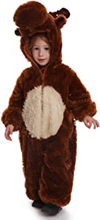 Dress Up America 865-S Kids Reindeer Jumpsuit Outfit, 4-6 Years (Waist: 71-76, Height: 99-114 cm)