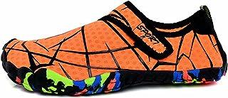 JRYⓇ Chaussures d'eau Hommes Femmes - Chaussures de Natation pour Le Bateau de Plage Pêche Yoga Plongée Surf avec séchage ...