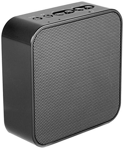 AudioAffairs PR 001 Steckdosenradio | Plug-in Küchenradio & Bluetooth Lautsprecher | Integrierter Akku | AUX IN Anschluss | Freisprecheinrichtung | Powerbank | UKW FM PLL Tuner | Farbe: Schwarz