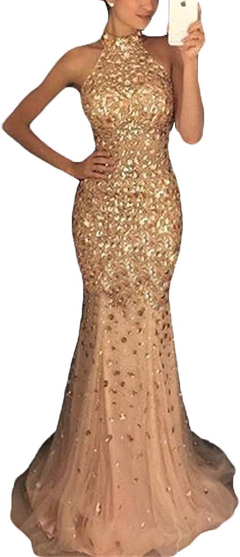 Ellenhouse Women's Long VNeck Beaded Split Side Evening Prom Party Dress EL290