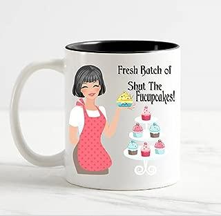 Shut the Fucupcakes Funny Coffee Mug, Ceramic Coffee Mug 11oz