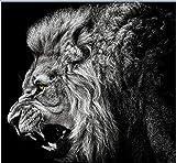 oioiu Moderna Selva Africana en Blanco y Negro Animal Salvaje león Tigre Estampado Leopardo Lienzo Pintura Sala de Estar Imagen de la Pared decoración póster Sala de Juegos Dormitorio Juvenil