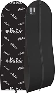 """Wedding Dress Garment Bag - For Long Dresses and Gowns - 72"""" x 24"""", 10"""" Gusset"""