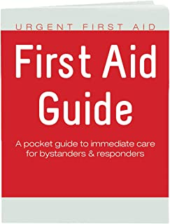 Urgent First Aid Guide with CPR & AED - 52 Pages   Full Color First Aid Booklet by Urgent First Aid™ complies with OSHA & New ANSI Guidelines