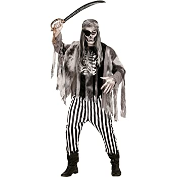Amakando Disfraz bucanero Fantasma Traje Pirata Zombie S 48 ...