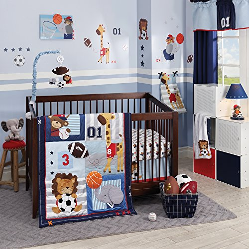 Lambs & Ivy Future All-Star 4Piece Baby Crib Bedding Set Baby Boy Sports Bedding