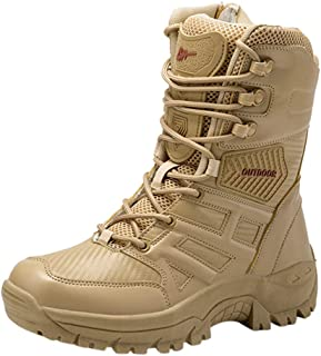 Haforever Men's Lightweight Combat Boots Military Tactical Boots Classic Military Jungle Boots