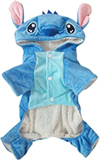 Hencool Disney Stitch Cartoon Pet Custume Coat for Small Medium Large Dogs (L)
