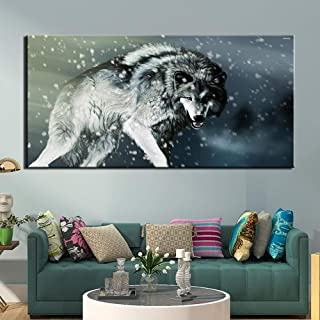 Xutongrui Poster Print Canvas Painting Abstract Wolf Picture For Living Room Home Decorativo Modern Wall Art Framework