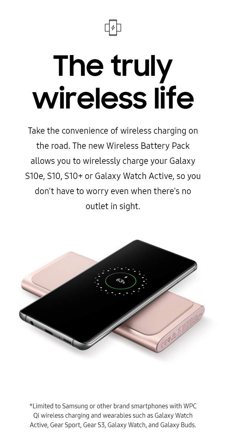 Samsung 2-en-1 Cargador inalámbrico portátil de Carga rápida y ...