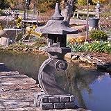 Wanda collection Linterna Japonesa de Piedra de Lava 90 cm lámpara jardín terraza