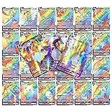 100pcs Cartas Pokemon Vmax, Cartas Pokemon Español,Tarjetas Flash de Pokemon,Juego de Tarjetas de Pokémon,Colección de Cartas Raras Barajas de Regalo Juego de Cartas coleccionables para niños