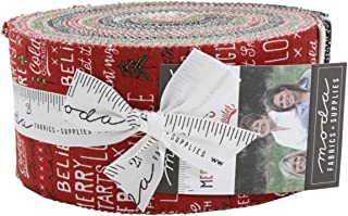Merry Starts Here Jelly Roll 40 2.5-inch Strips by Sweetwater for Moda Fabrics