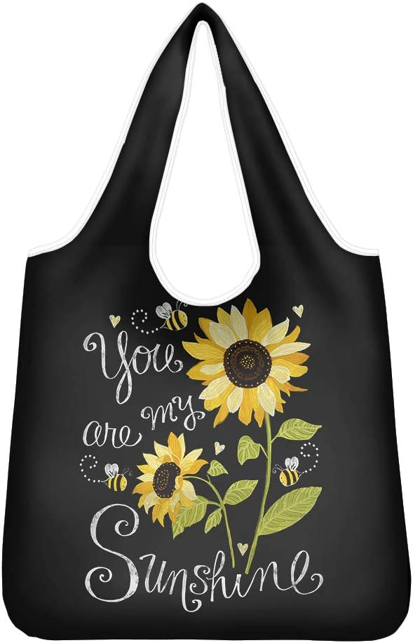 GLENLCWE Sunflower High quality new Reusable Shopping Bag Austin Mall Y Bags Foldable Grocery