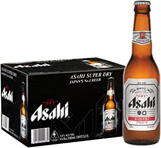 Asahi Super Dry Pint Beer, 330ml (pack of 24)