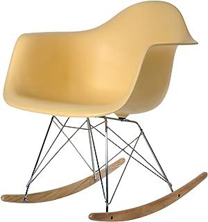 Aryana Home ARYABA013 Chaise à Bascule Réplique Eames 62,5x69x79,5 Beige
