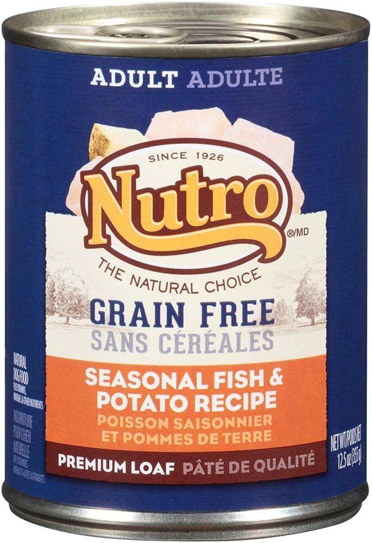 Nutro 50411589 Grain Free Seasonal Fish & Potato Recipe Adult Dog Food, 12 Ea 12.5Oz