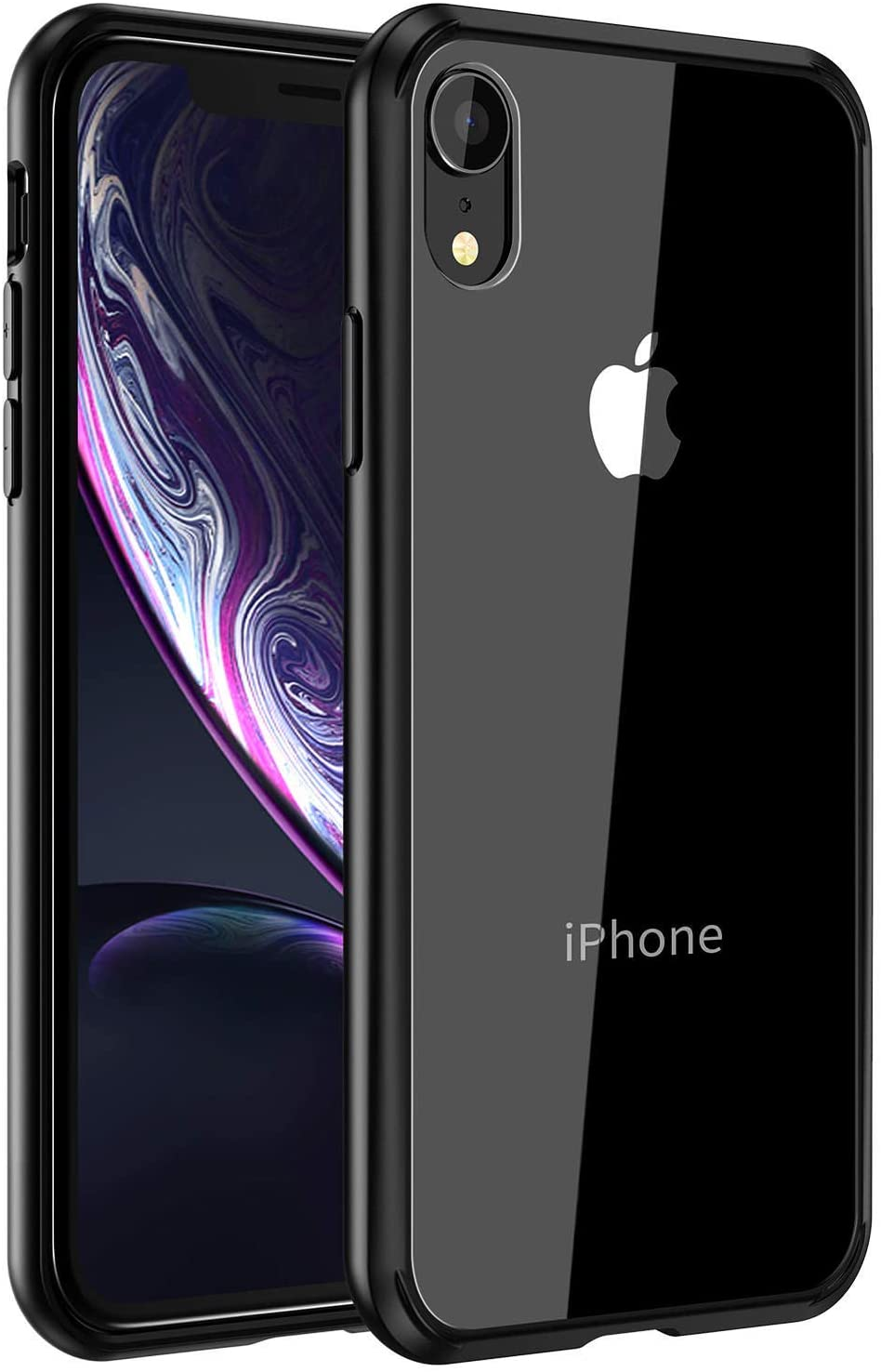 Mkeke Compatible with iPhone XR Case,Clear Cover for 6.1 Inch Black
