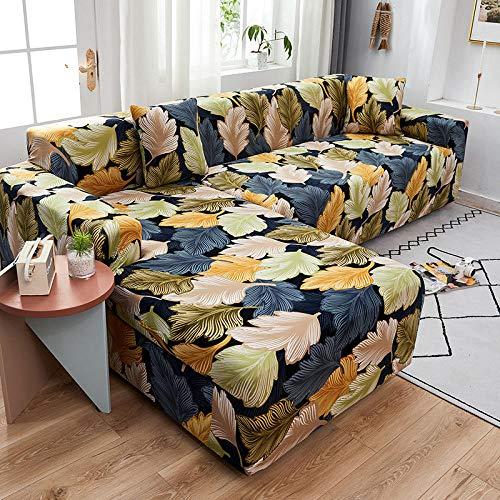 Anti Arañazos Ajustable Protector para Sofá Fundas de sofá de 4 plazas con Estampado de celosía en Forma de L para Sala de Estar, Fundas elásticas Antipolvo Protectoras de sofá para Esquinas