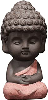 Vosarea Estatua de Buda Pequeña Escultura Tallada a Mano de