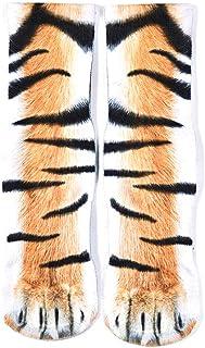 Calcetines de algodón Transpirables con diseño de Huella de Animal 3D para Hombre y Mujer