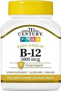 21st Century Health Care, Sublingual B-12, 5000 mcg, 110 Tablets