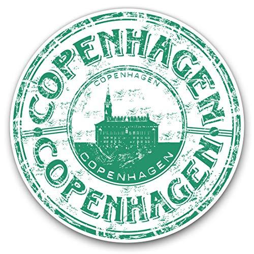 Fantastici adesivi in vinile (set da 2) 7,5 cm – Copenaghen Danimarca Danimarca divertente decalcomanie da viaggio per computer portatili, tablet, bagagli, scrapbook, frigoriferi, ottimo regalo #5772 15 cm