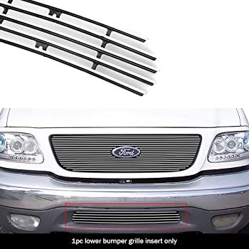 Amazon Com Aps Compatible With 1999 2003 Ford F 150 4wd 1999 2002 Expedition Lower Bumper Billet Grille F85085a Automotive