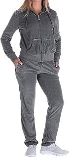 Women's 2 Piece Outfits Velvet Zip Hoodie Sweatshirt & Sweatpants Sweatsuits and Velour Tracksuit Sets Jogging Suit