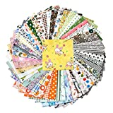 50 Pieces 9.8 inches x 9.8 inches (25cm x 25cm), Handmade Fabric, Hand Stitching  Cotton Craft Fabric Square Patchwork DIY Sewing Scissors, no Repeat Design Printing