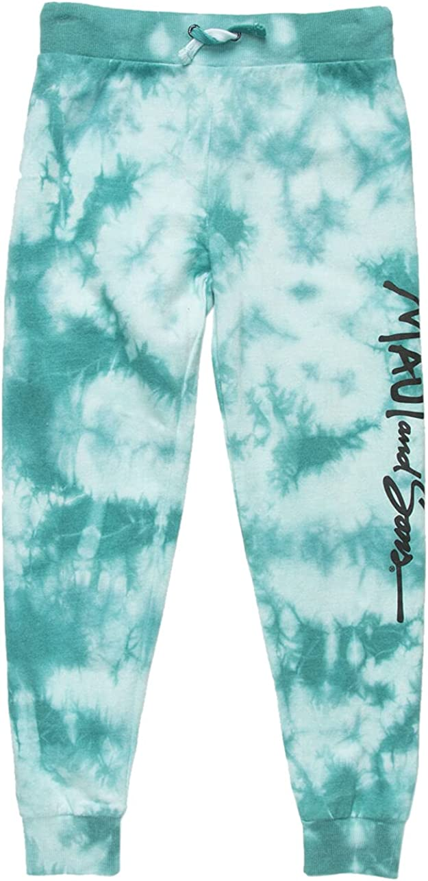 Maui and SONS Tie Dye Girls Jogger Sweatpants