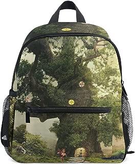 Bat Forest Unicorn Starry Sky Fairy Tale School Backpack for Boys Kids Preschool School Bag Toddler Bookbag