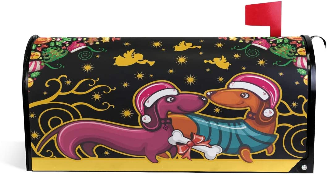 SUABO Christmas Mailbox Cover Oversize Dachshunds Magnetic Inventory cleanup sale selling sale Cute