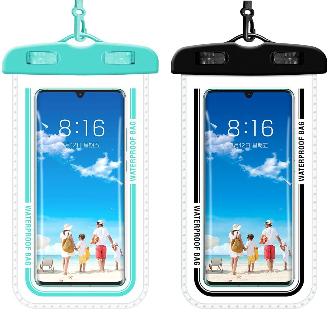 Clear Universal Waterproof Cellphone Pouch Case,Phone Dry Bag,with Lanyard,for iPhone 12 Pro 11 Pro Max XS XR X 8 7 6S/Galaxy S21 20/Ultra S10 /Note10 9,Up to 7.5