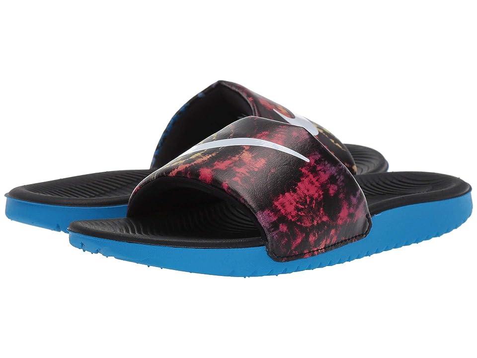Nike Kids Kawa Slide (Little Kid/Big Kid) (Photo Blue/White/Black) Kids Shoes