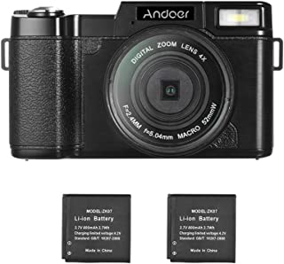 "Andoer Andoer R1 1080P 15fps Full HD 24MP Digital Camera Cam Camcorder 3.0"" Rotatable LCD Screen Anti-shake 4X Digital Zoo..."