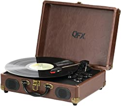 QFX TURN-101 Portable Suitcase Record Player Consumer Electronics
