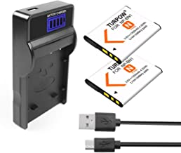Turpow NP-BN1 Battery (2 Pack) and Charger Kit Compatible with Sony Cyber-Shot DSC-QX10, DSC-QX30, DSC-QX100, DSC-T99, DSC-TF1, DSC-TX5, DSC-TX7, DSC-TX9, DSC-TX10, DSC-TX100V, DSC-W310