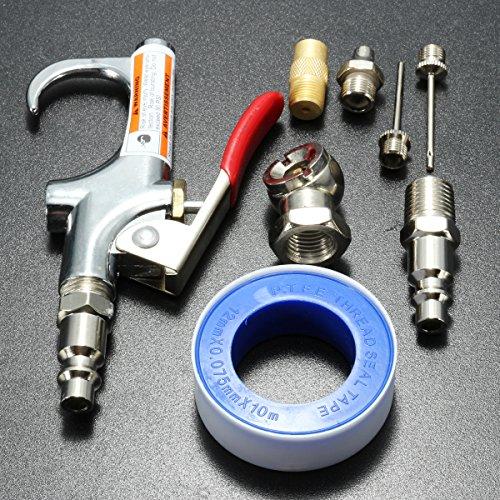 Alamor 9 Stks Compressor Luchtstofzuiger Gecomprimeerde Luchtmondstuk Blow Gun Kit Blower Cleaning Tool B Versie