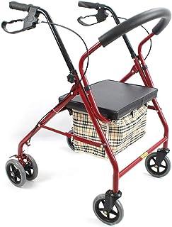 ZSLD Carro De Compras Plegable/Asiento Portátil para Personas Mayores/Carro Ahorrador De Trabajo Adecuado para Viajes Y Compras para Personas Mayores con Movilidad Reducida