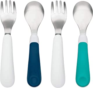 oxo tot training fork & spoon set aqua