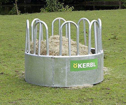 Kerbl Rundraufe mit 8 Fressplätzen für Loses Futter oder kleine Hochdruckballen