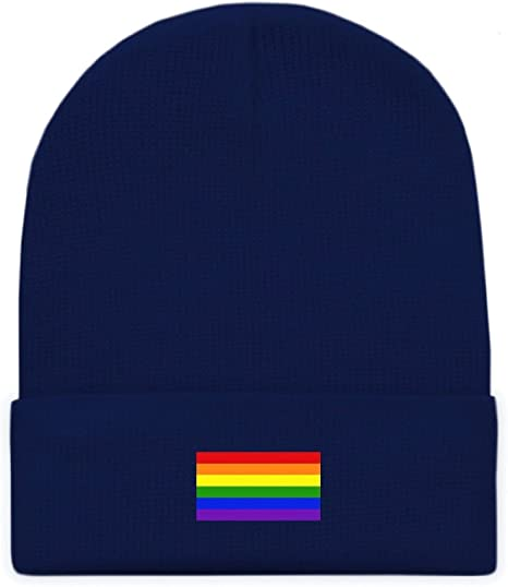 EASON-G Toddlers Beanie LGBT Gay Pride Love You Sign Language Cuffed Knit Hat Skull Cap
