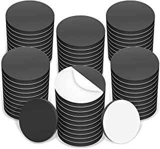 Round Magnet Discs with Adhesive Backing. Many Sizes & Pack Quantities. Great for Crafts! 1 inch Black RAMD1/23/41 25