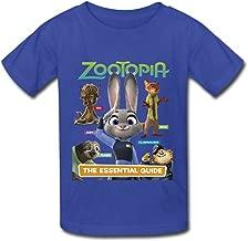 Yc Big Boys' Zootopia Poster T Shirt for Kids Black