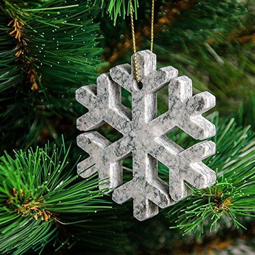 4 Weihnachtsdekoration Stein zu Weihnachten oder zu Hause Baum (Engel, Bäumchen, Schneeflocke, Stern)