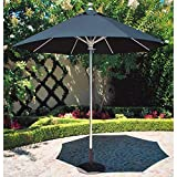 Galtech Sunbrella Taupe Fabric Commercial 9 Foot Aluminum Push Up Lift Umbrella