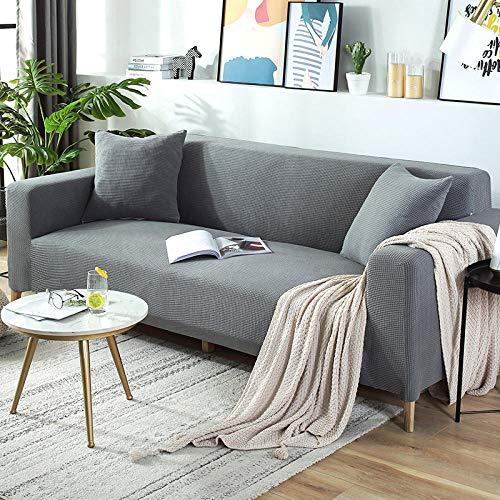 BLACK ELL 1 Sitzer Sofabezug Sesselbezug Sofahusse,Alle Jahreszeiten, elastisch All-Inclusive-B_235-300cm,Sofahusse Sesselbezug Stretchhusse Sofaüberwurf