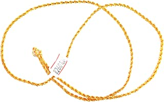 BMCGold Plated Traditional Chain for Women(24 inches)